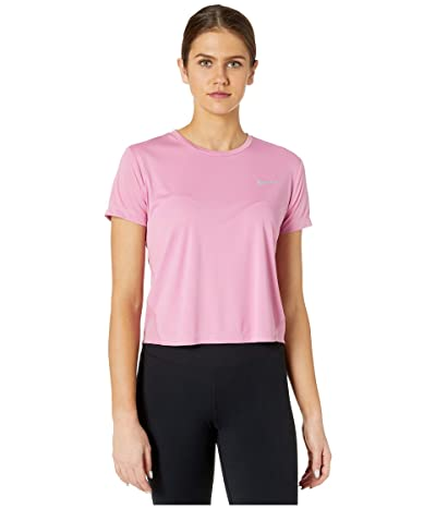 Nike Miler Top Short Sleeve (Magic Flamingo/Reflective Silver) Women