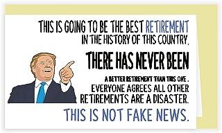 Donald Trump Retirement Card, Humor Retirement Gift for Him Her, Make America Great Again