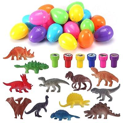Easter Eggs with Prefilled Dinosaur Toys  Dinos...