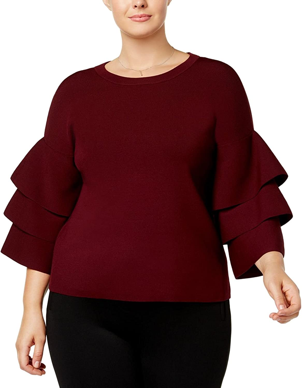 INC International Concepts Plus Size TieredSleeve Sweater,