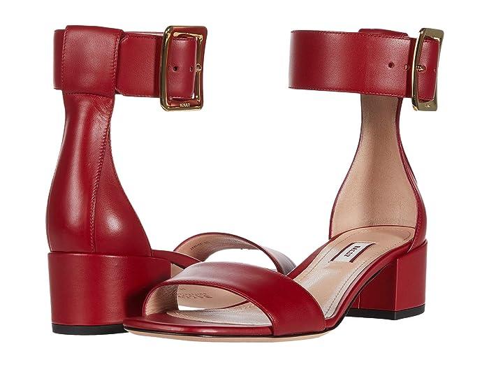 Bally  Janise 40 Heeled Sandal (Lipstick) Womens Sandals