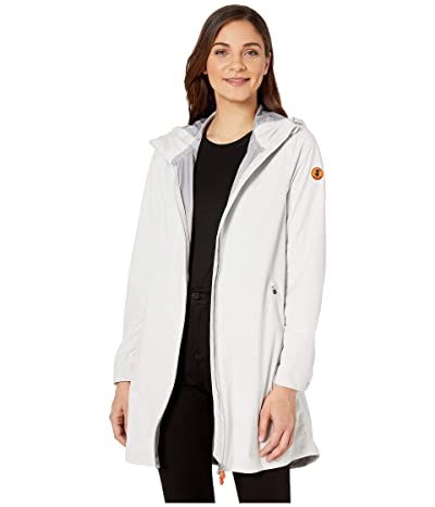 Save the Duck Bark Long Rain Jacket (Coconut White) Women