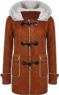 Surprise S Winter Coats Women Outdoor Hooded Horn Leather Lamb Wool Buckle Ffleece Outwear Warm Coats Jackets