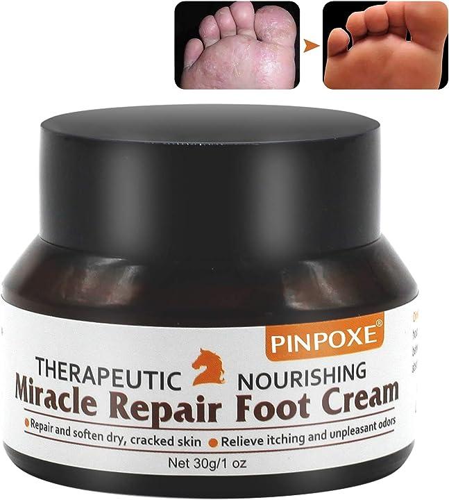 Crema piedi - per la cura dei piedi, balsamo per piedi, balsamo per cavalli - pinpoxe 30 g, bianco PIN-CWW-01Fußcreme1022