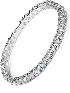 Neoglory Jewelry Christmas Gift Platinum Plated Stunning Rhinestone Classic Tennis Bracelet Bangles Wedding