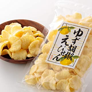 吉松 柚子胡椒 えびせん 業務用 お菓子 おつまみ えびせんべい 珍味 ゆず 海老 煎餅 (80g×4袋入)