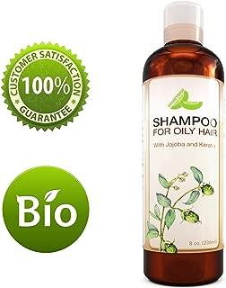 Shampoo For Oily Hair - Clarifying Anti-Dandruff Shampoo For Men & Women - Greasy Hair & Itchy Scalp Treatment - Balancing Lemon Oil Control Formula - Jojoba Keratin & Argan Oil For Silky Soft Hair