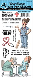 Art Impressions Work & Play Clear Stamp Set Proud Nurse (4899)