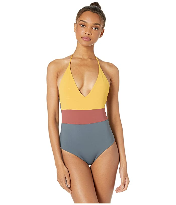 eec4842ce Tavik Chase One-Piece Swimsuit (Sunflower/Turbulence Grey) Women's Swimsuits  One Piece