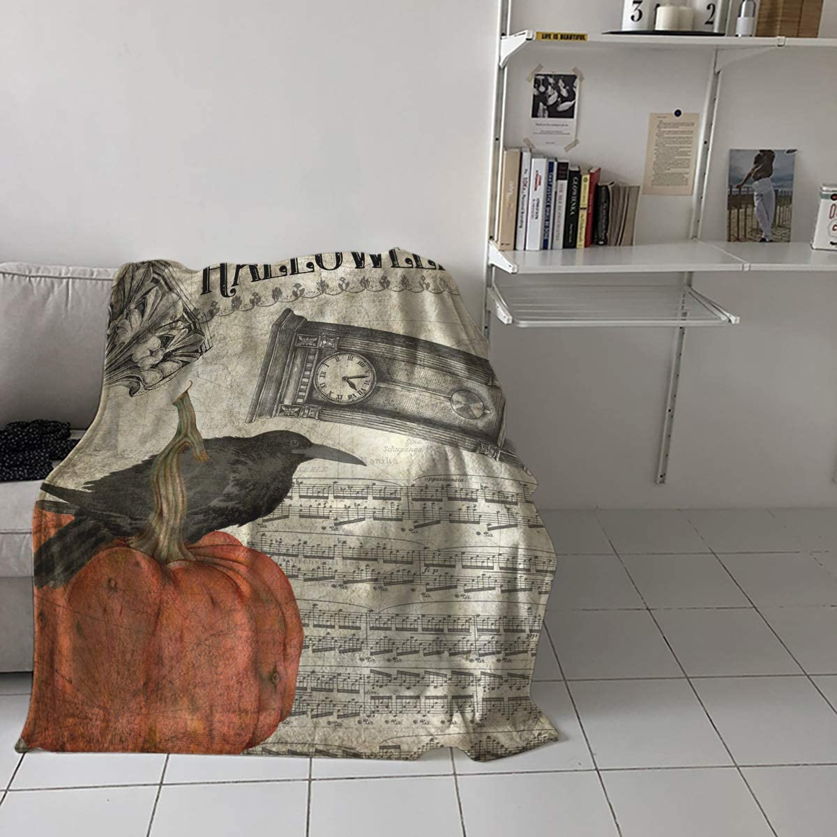 Flannel Fleece Throw Blanket for Direct store Couch Cash special price Hor Halloween Bed or Sofa