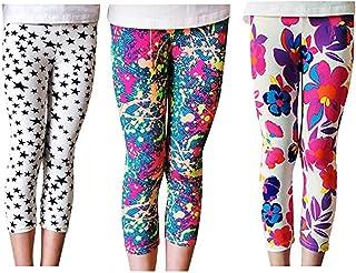 Lazzon, Niñas Pantalones Leggings Cortos 3/4 Largos Deportiva Mallas para Chicas 2-13 Años