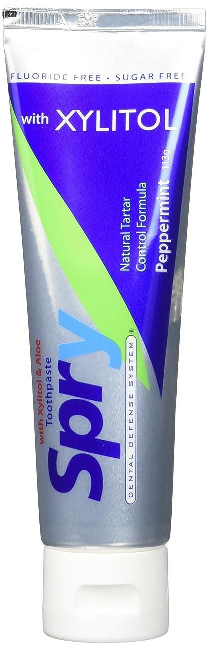 曲にじみ出る急降下Spry Xylitol Toothpaste Pepp No Flr 113 g (order 12 for trade outer) / Spryのキシリトール歯磨き粉PEPPませFLR 113グラム(商品アウター用12受注)