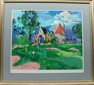 Leroy Neiman Hand Signed 1996 Winged Foot Golf Club Print - Autographed Golf Art