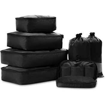 COOLIFE Packing Cubes 7PCS Best Value High Quality and Durable Mesh Luggage Organisers Travel Packing Suitcase