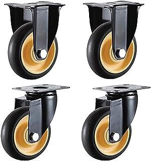 LYQQQQ 4 stks Meubelwielen Universele Rollers Industriële Rotary Heavy Duty Transportband Rolls 3Inch/75Mm 4Inch/100Mm 70K...