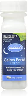 Hyland's Calms Forte' Sleep Aid Tablets, Natural Relief of Nervous Tension and Occasional Sleeplessness, 100 Tablets, Pack...