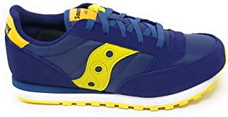 Saucony Jazz Original, Scarpa da Ginnastica, SK264773, Navy/Green/Yellow (Numeric_37_Point_5)