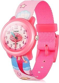 Kids Watches Cute Cartoon Waterproof Nylon Fabric Strap Children Toddler Wrist Watch Time Teacher Birthday Xmas 3-10 Year Boys Girls (Mermaid)