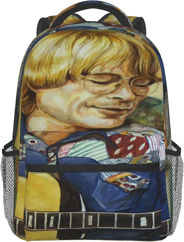 Unisex Max 42% OFF Lovely Lightweight Laptop Bag Bookbag John College Denver High quality new
