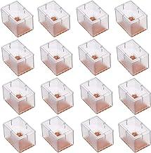 Maydahui – Protetor de pé retangular para cadeira, 16 peças, protetor de piso de silicone com pastilhas de feltro para móv...