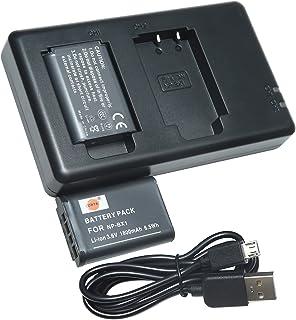 DSTE 2PCS NP-BX1(1800mAh/3.6V) Batería Cargador Compatible para Sony NP-BX1/M8Sony Cyber-Shot DSC-RX100VIIDSC-RX100DSC-RX100 IIDSC-RX100M IIDSC-RX100 IIIDSC-RX100 VDSC-RX100 IVHDR-CX