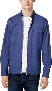 Mens Woven Zip Shirt Jacket