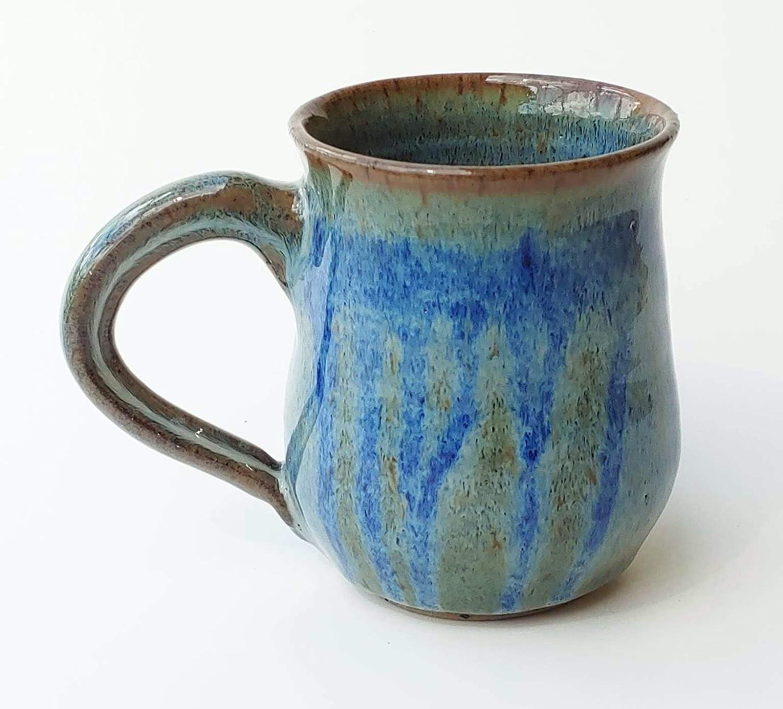 Quantity limited Handmade 12 oz Mug with Popular overseas Floating and Blue Glaze Sapphire