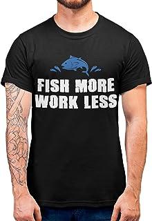 Purple Print House Fish More Fishing Tshirt, Fishing Gifts for Men, Funny Tshirts Novelty Graphic