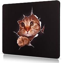CHUQING Petit tapis de souris antidérapant Motif chat 240 x 200 mm