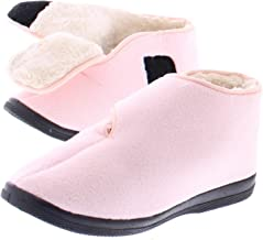 Gold Toe Womens Wide Adjustable Strap Orthopedic Wrap Slipper Bootie Memory Foam House Shoes
