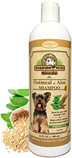Oatmeal Dog Shampoo with Aloe Vera and Vitamin E - Hypoallergenic Dog Shampoo for Pets with Dry, Sensitive or Itchy Skin - All Natural Fragrance Free, 16 Ounces of The Best Dog Shampoo for Dry Skin