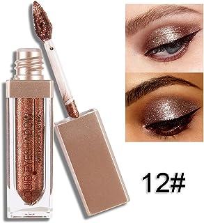 Cocohot 12 Colors Metallic Glitter Liquid Eyeshadow High Pigment Waterproof Long Lasting Eye Shadow Makeup (J12)