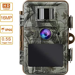 Barbella Trail Game Camera 16MP 1080P Hunting Game Camera with Night Vision Motion Activated Waterproof for Wildlife Animal Scouting Surveillance 120° Detecting Range 2.4