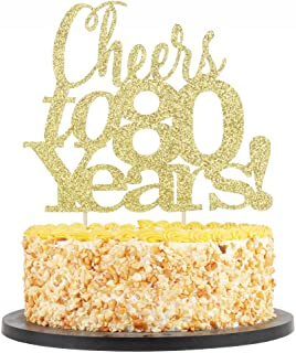 Best cheers to 80 years cake topper Reviews