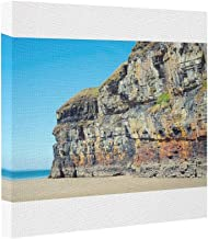 Butter Tisse Canvas Picture Frames blue skies and sea at ballybunion cliffs Canvas Wrap