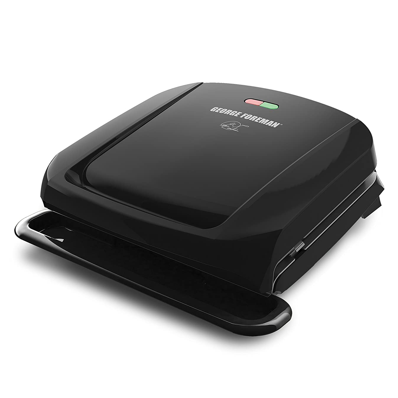 George Foreman 4-Serving Removable Plate Grill and Panini Press, Black, GRP1060B