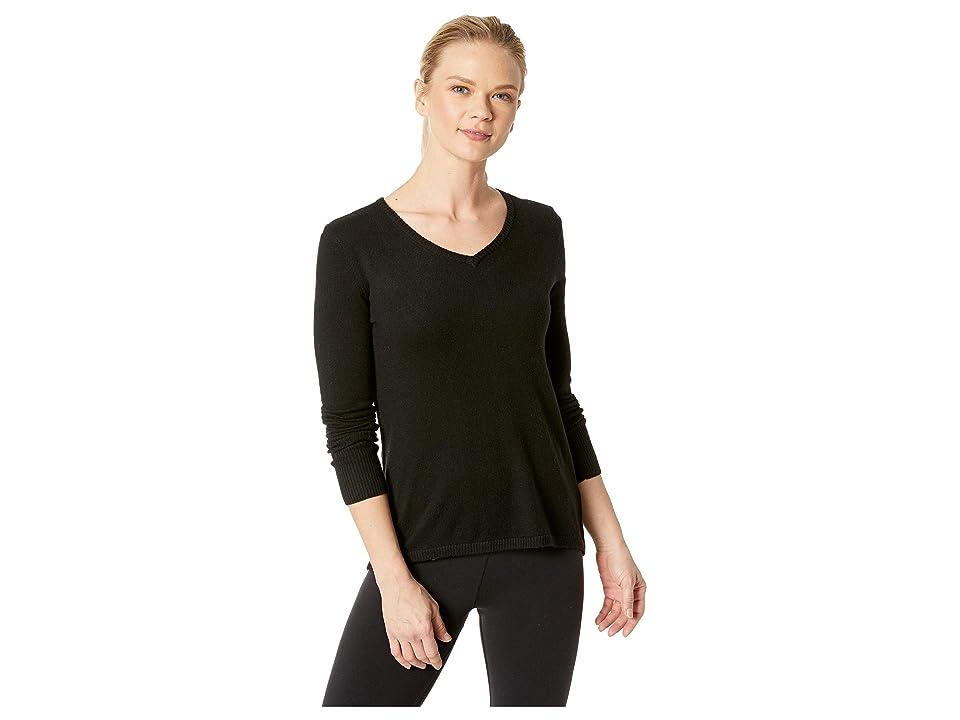 Smartwool Shadow Pine V-Neck Sweater (Black) Women