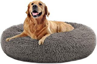 OQQ Calming Dog Bed, Round Bed for Small Medium Large Dogs, Faux Fur Donut Cuddler Cat Cushion Bed, Ultra Soft Pet Bed Mac...