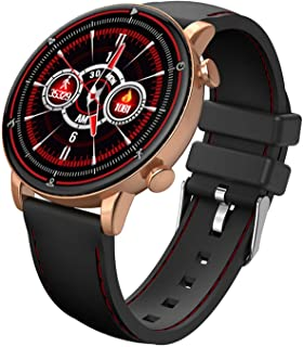JHHXW Smart Watch, 1.28 Inch Screen, Fitness Tracker, Sports Pedometer Bracelet, Multiple Watch Faces IP68 Waterproof, Mes...