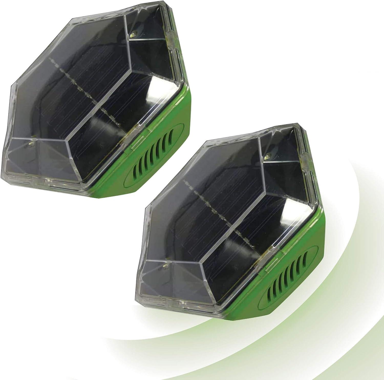 Isotronic Solar Pájaros Por Ultrasonido pájaro Ver Controladores pájaro Ahuyentador palomas - Protector antiaves Antepecho contra palomas Pájaros Gaviotas Gatos, Pack de 2