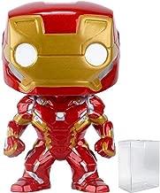 Funko Pop! Marvel: Captain America 3: Civil War - Iron Man Vinyl Figure (Includes Pop Box Protector Case)