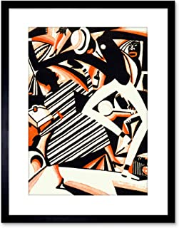 9x7 INCH PAINTING DRAW AFRICAN AMERICAN JAZZ TWO TONE REISS DANCE MUSIC FRAMED WALL ART PRINT PICTURE PAINTING WOODEN PHOTO FRAME BLACK WHITE OAK BROWN F97X663