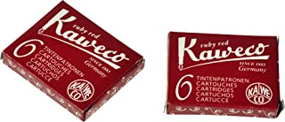Kaweco Fountain Pen ink cartridge short red - pack of 6