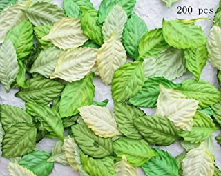 200Pcs Artificial Leaves, Assorted Colors for Halloween, Fall Weddings & Autumn Parties Decoration (One Size, 4 Assorted Colors)