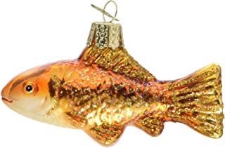 Old World Christmas Fish Collection Glass Blown Ornaments for Christmas Tree Goldfish