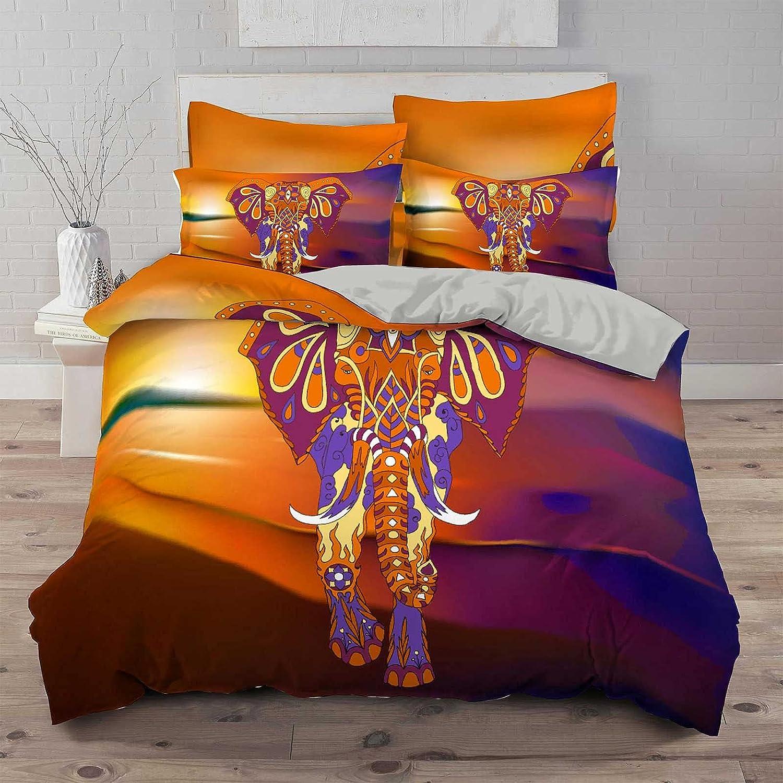 YOURCOZY Bohemia Elephant Cheap Dallas Mall mail order sales Bedding Sets Multicolored Exotic Anima