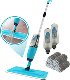 Spray Mop Kit Strongest Heaviest Duty Mop Set - Best Floor Mop Easy To Use - 360 Spin Microfiber Mop With Integrated Sprayer - Includes 3 Refillable 700ml Bottles & 5 Reusable Microfiber Pads by Kray