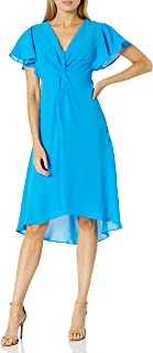 Women's Twist Front Gauzy Crepe Dress