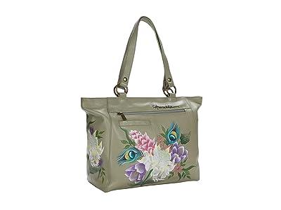 Anuschka Handbags Large Shoulder Tote 664 (Regal Peacock) Bags