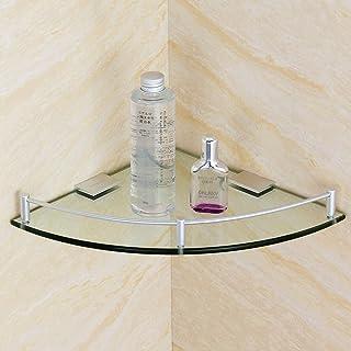 YXN Espacio Aluminio Vidrio Baño Estante Cuarto de baño Triángulo Individual Metal Colgante Rincón Aparador (Tamaño : 20cm)